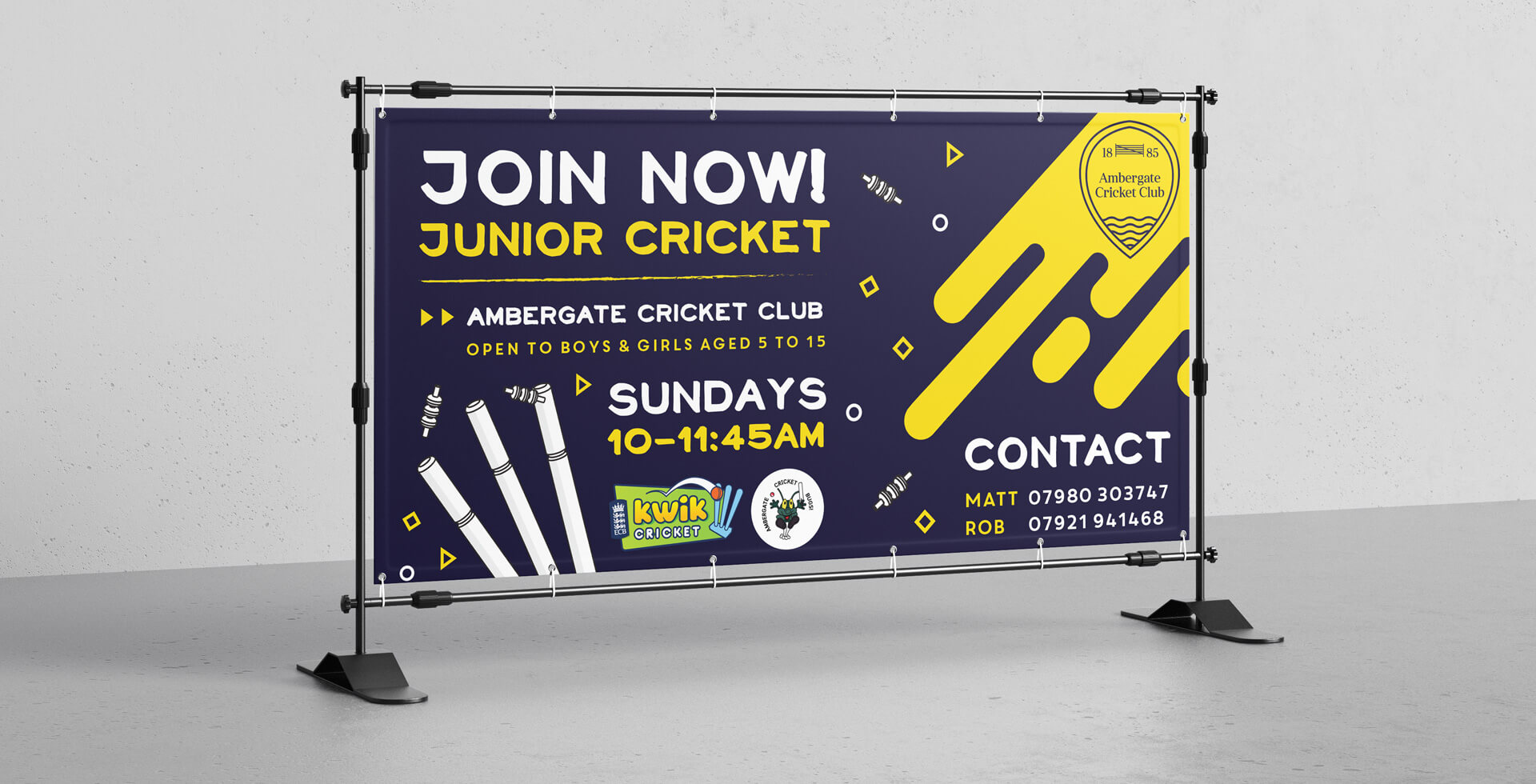 Cricket Club Banner